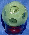 OIL JADE 5 LAYER DRAGON PUZZLE BALL (HJ093B)