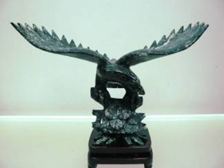 Black JADE EAGLE Statue