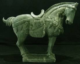 Jade Horse Only $ 1199.99 Each + S/H.  SIZE: L 28in H 25in W 9in.