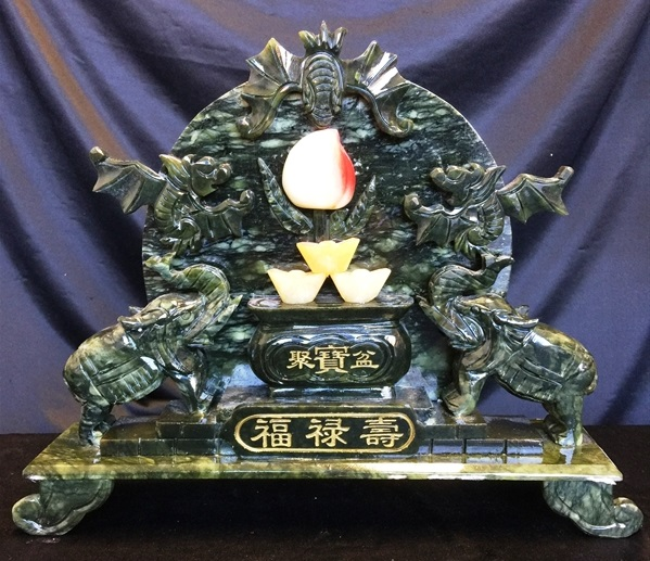 Jade Elephant Statue