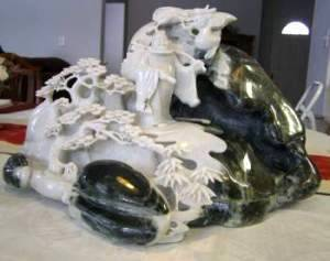 jade carving. One of a kind items. This fine Dushan jade carving is 40 pounds of solid jade and in Oregon ready for sale April 2014