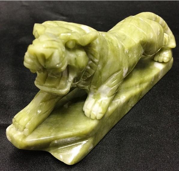jade tiger statue