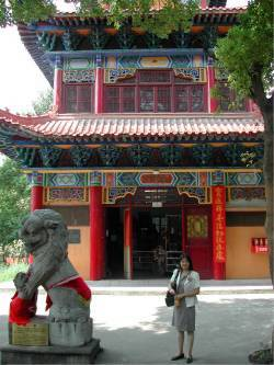 Foo Dogs at the Temple in Wuhan China