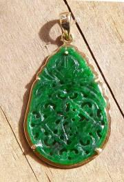 Jade pendant carvings jade pendants panda bear jade pendant aloadofball Choice Image