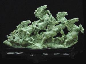 Jade Horse A01-06, Price = $ 4998.00 + S/H size approx H. 48 inch x W. 36 inch