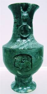 JADE DRAGON VASE
