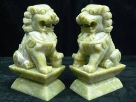 jade foo dogs Statue Carving