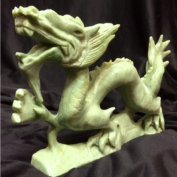 jade dragon carving