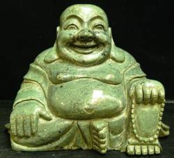 WHITE JADE Laughing BUDDHA