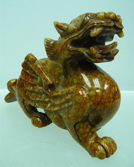 Pixiu Dragon Jade Dragon Jade Carving Wj32