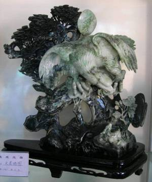 Natural Dushan Jadeite Jade Eagle Sculpture Shipping from China via Air Courior See More Information Below.