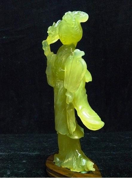 jade girl statue