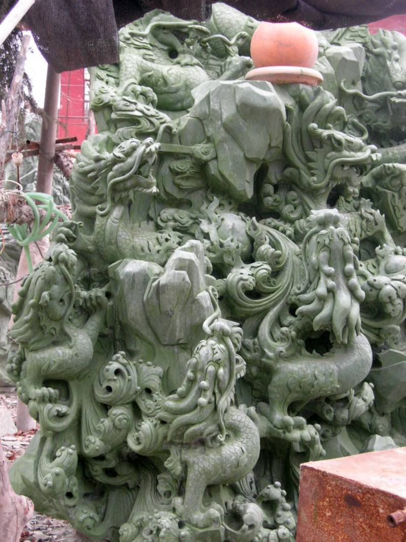 jade carvings jade carving garden sculpture photo image