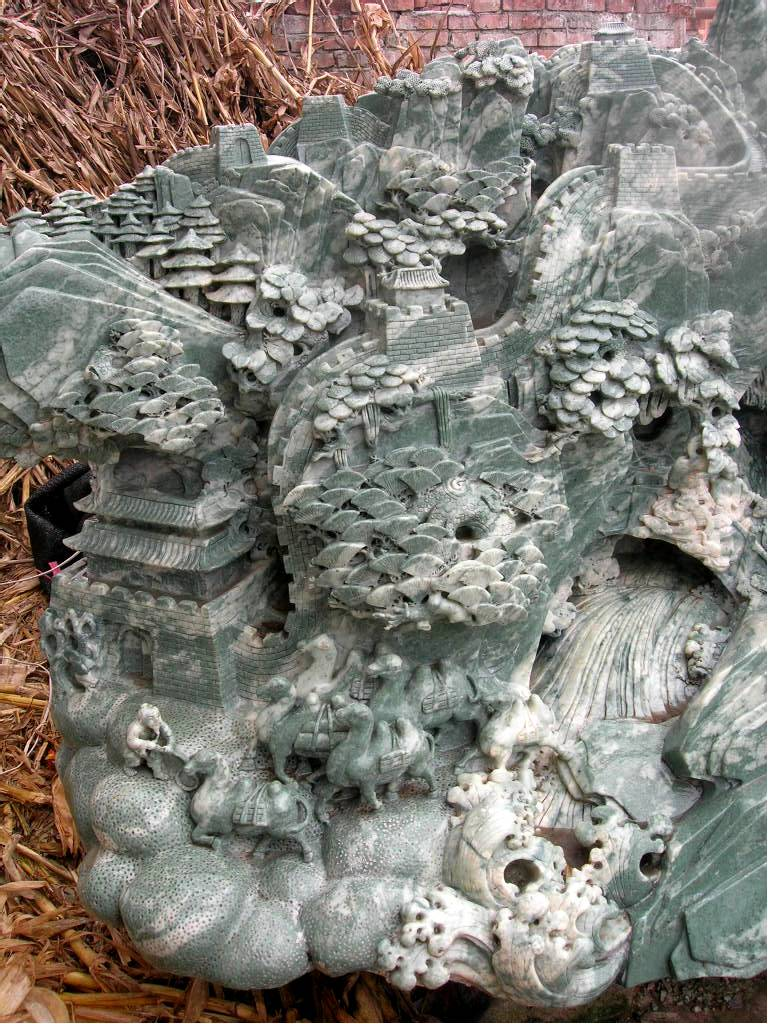 jade carvingsjade carving garden sculpture photo image