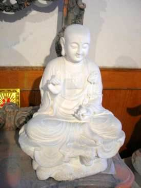 marble carving, Marble Buddha Garden Carving photo