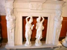 marble carving, Marble Fireplace Mantle Carving photo