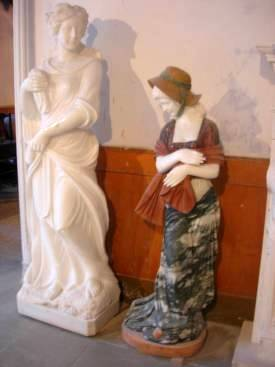 marble carving, Marble Ladys Garden Carving photo