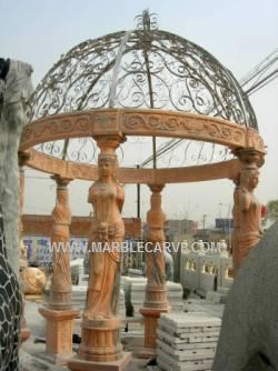 marble gazebo carving, Marble Gazebo.