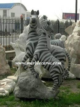 marble carving, Marble Zebra Horse.