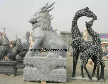 marble qilin carving, Marble Giraffe