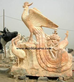 marble Phoenix carving