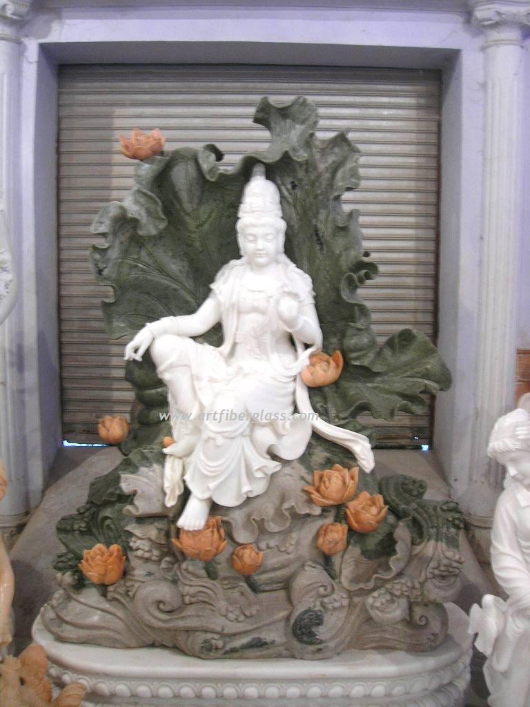 marble kwan yin statue