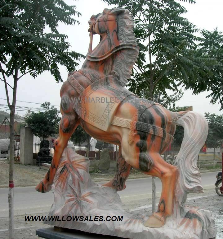 Marble Horse Sculpture