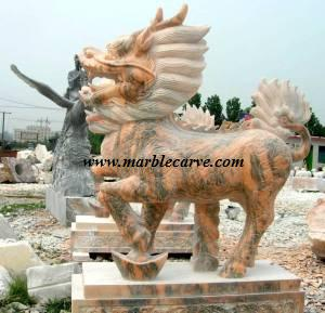 marble qilin carving