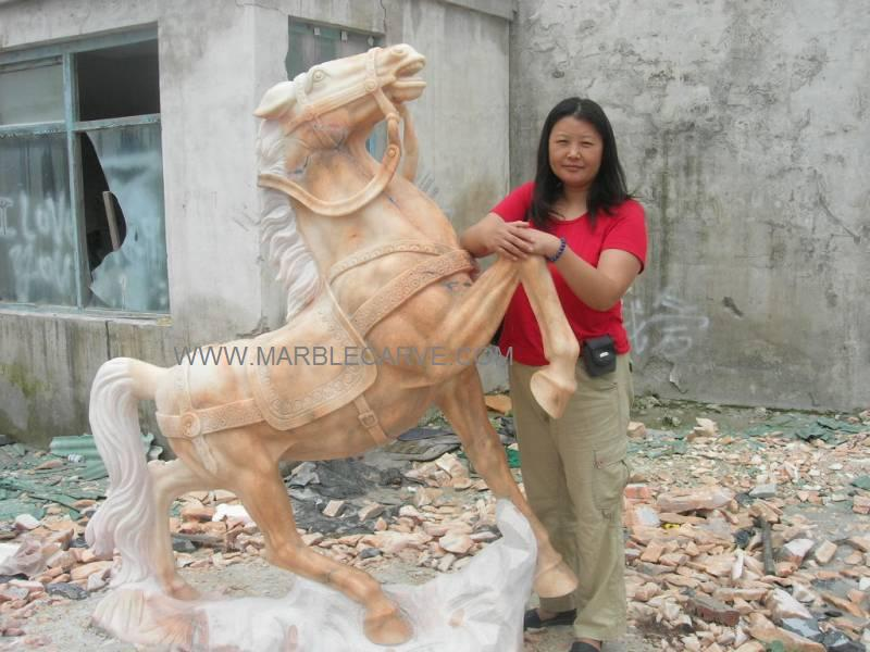 Marble Horse Carving
