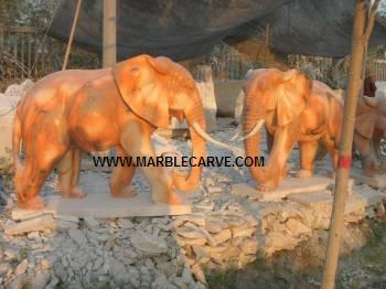 marble carving, Marble Elephants