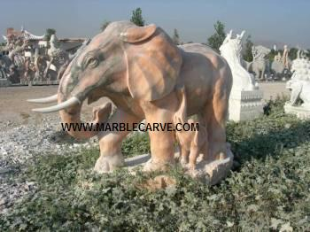 marble carving, Marble Elephant
