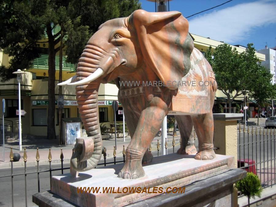 marble Elephant at the house of katmandu Mallorca Spain