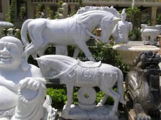 Jade Horses Horse And Zebra Carvings Marble Bone Horse Art