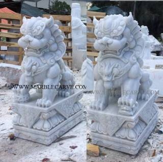 Marble Foo dog Statue Sculpture statue carving