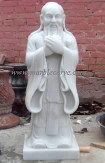Confucius marble sculpture statuary