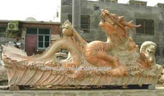 marble carving, Marble Dragon Carving Fountain