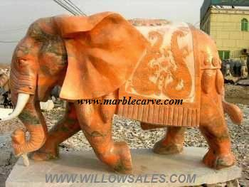 marble elephant carving