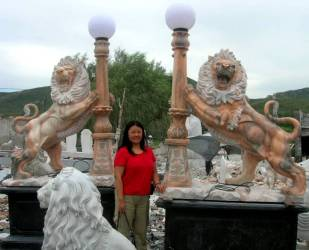 Marble Lion Carving photo
