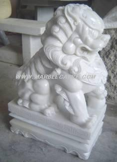 marble temple lion fudogs statue carving sculpture