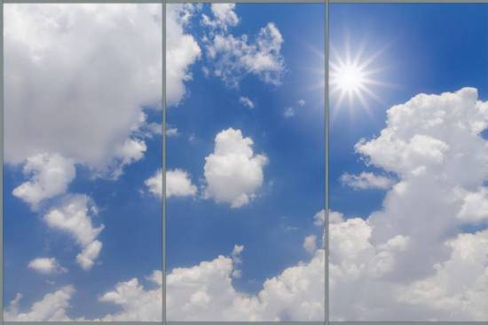 Bright Sun Panorama sky cloud ceiling lens diffuser