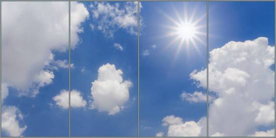 Bright Sun Panorama sky cloud ceiling lens diffuser