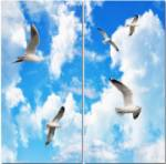 2 panel square layout Seagulls cloud ceiling lens diffuser