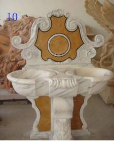 Gem Stone Wash Basin Carving
