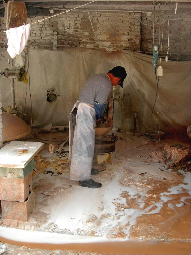 Gem Stone Wash Basin Carving