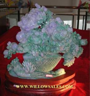 jade carving sculpture of burma jade. Posssibly the most beautiful jade carving in existance
