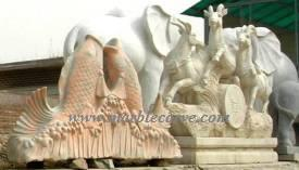 marble Rams Statue