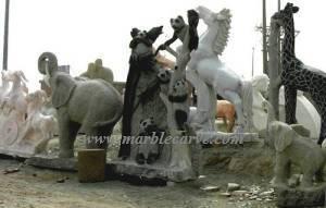 marble Bears Statue
