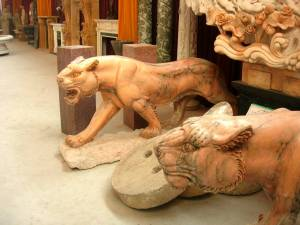 marble panther statue
