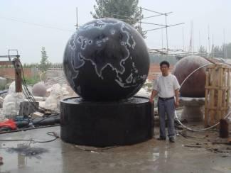 marble world globe statue