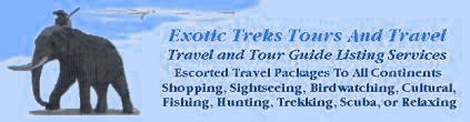 Tours and Travel Guides All Continents.Groups or individuals. Travel Packages To Hundreds Of Locations. Also Fishing and Hunting and Tour Guide Listing Services. We can send you to Mongolia Flyfishing on Horseback to Hunting the mountains of New Zealand. Or Guided Salmon, Steelhead Fishing in Oregon to Deep Sea Fishing in Malaysia on the South China Sea.